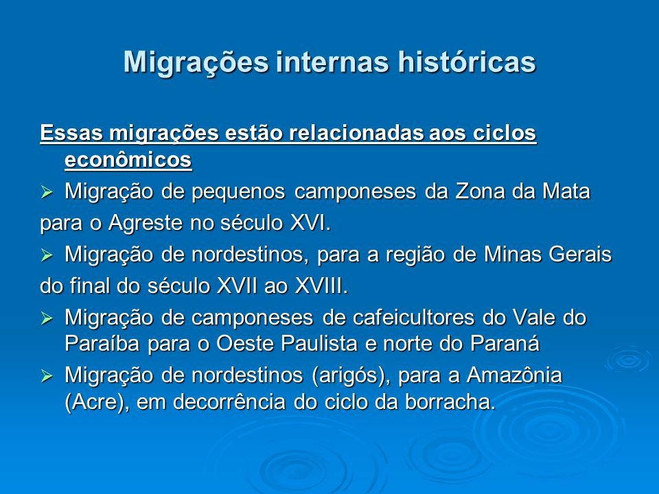 Migrações internas históricas