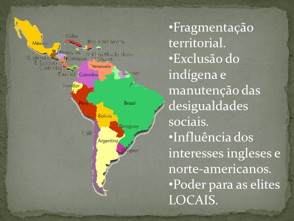 Fragmentação territorial.