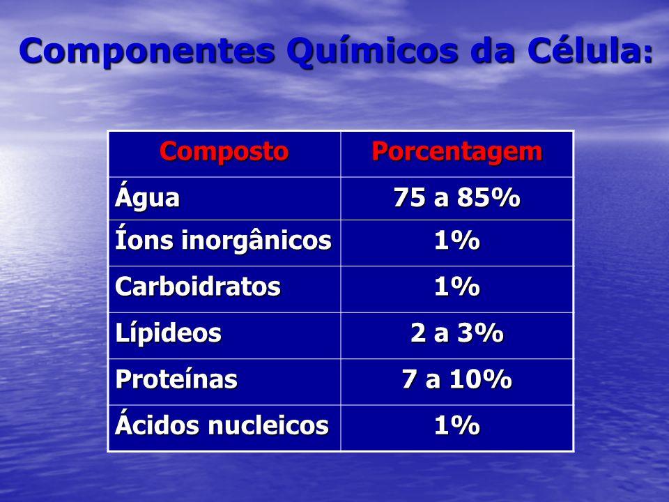 Componentes Químicos da Célula: