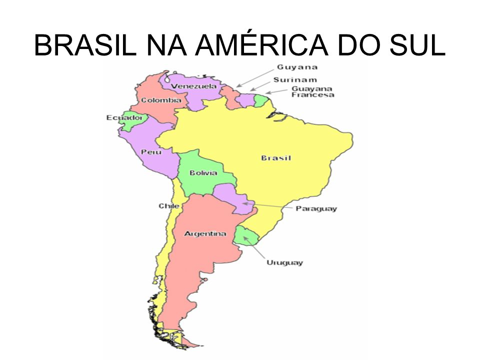 BRASIL NA AMÉRICA DO SUL