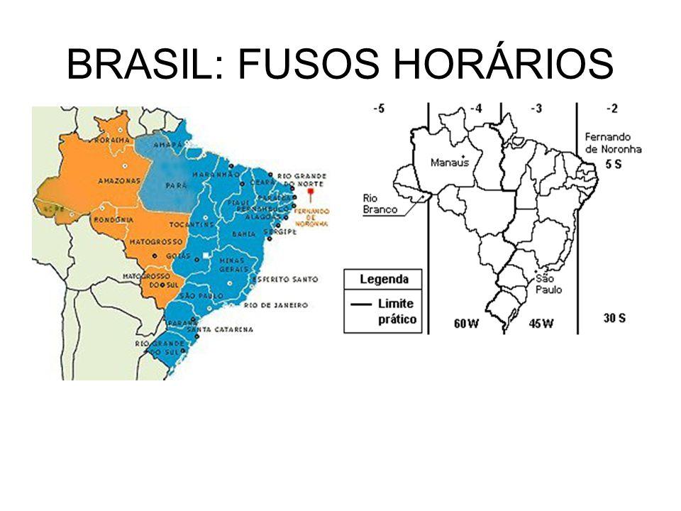 BRASIL: FUSOS HORÁRIOS