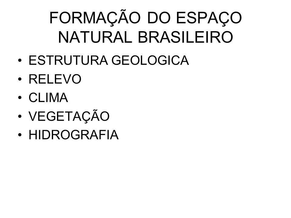 FORMAÇÃO DO ESPAÇO NATURAL BRASILEIRO