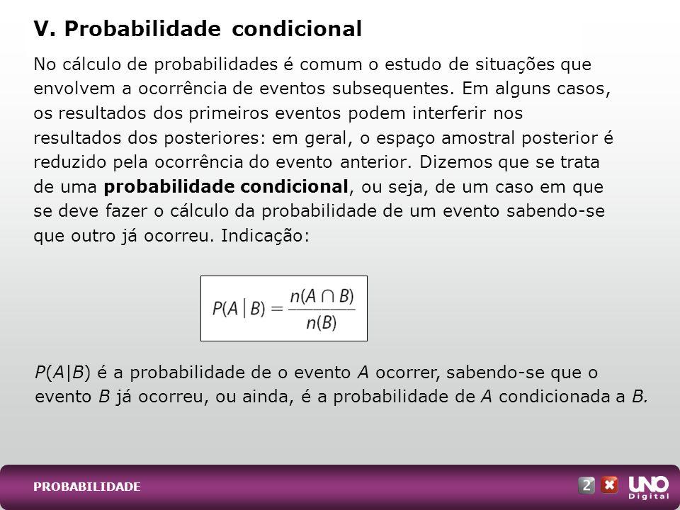 V. Probabilidade condicional