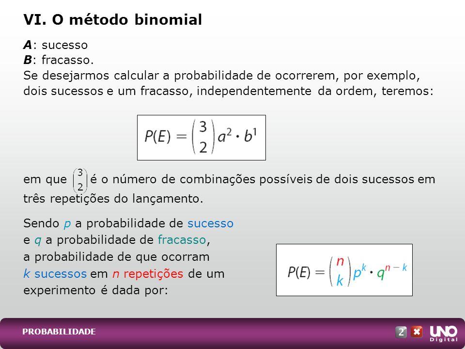VI. O método binomial