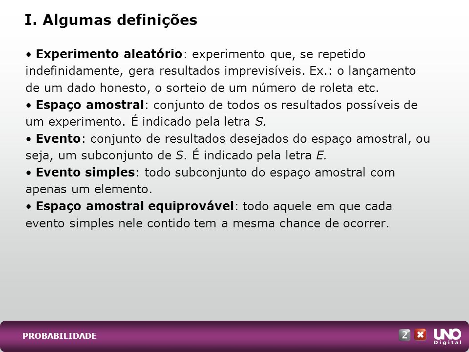 I. Algumas definições
