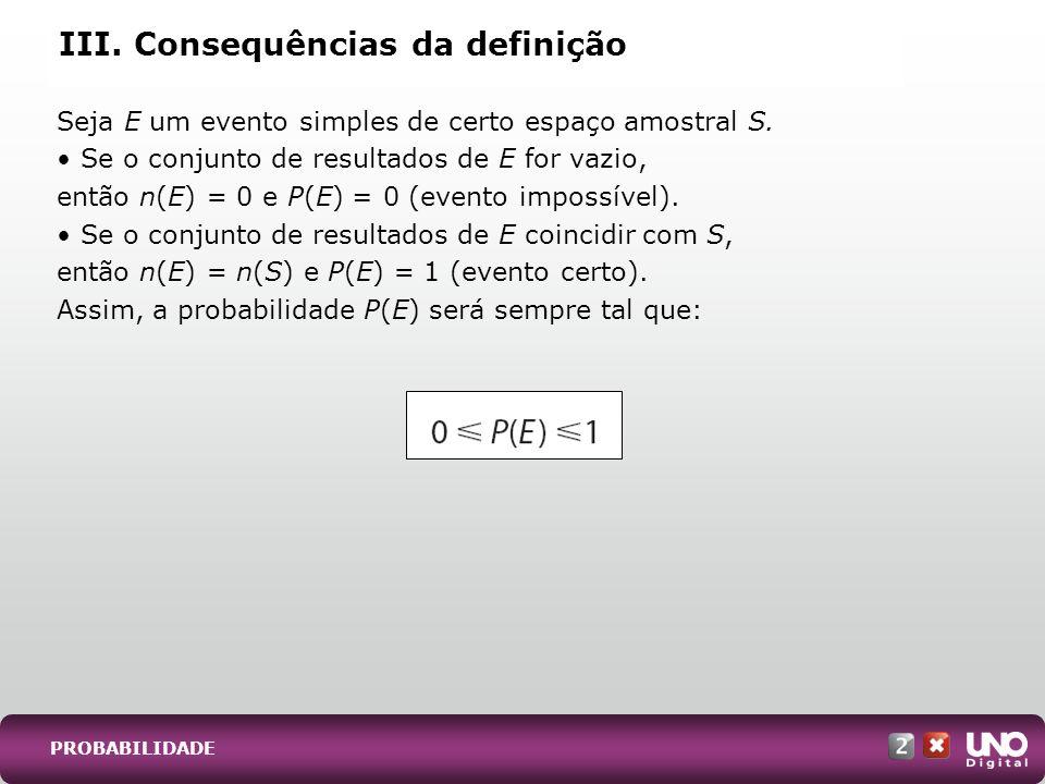 III. Consequências da definição