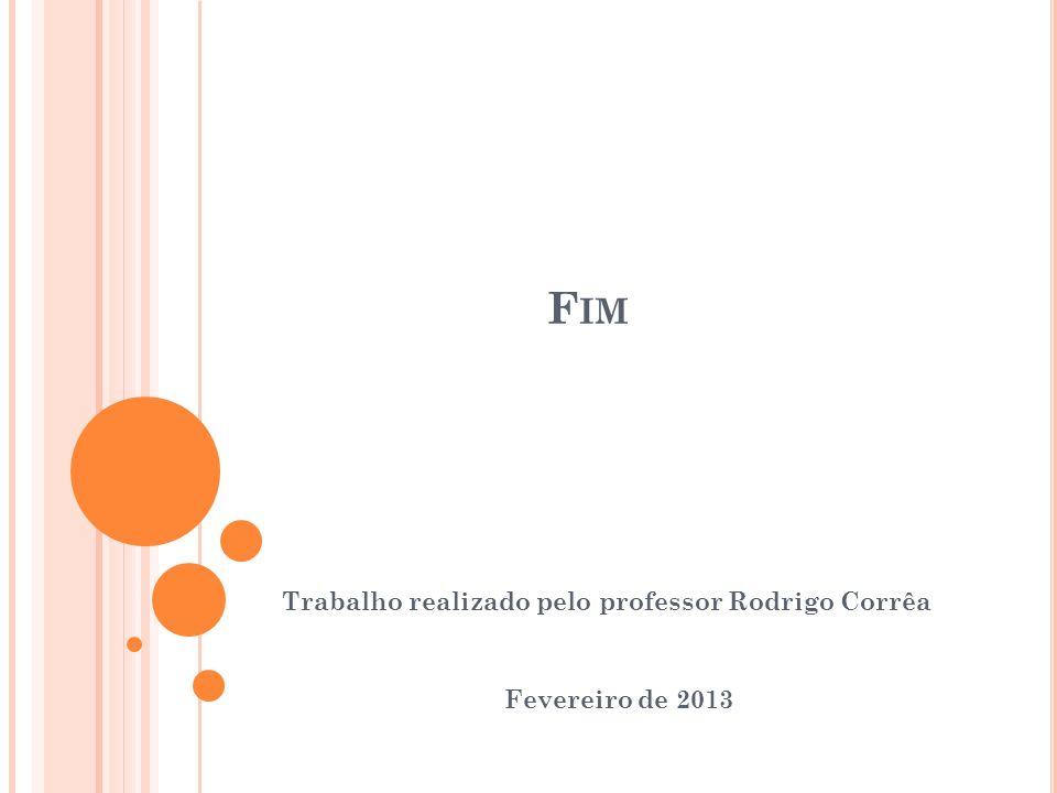 Trabalho realizado pelo professor Rodrigo Corrêa Fevereiro de 2013