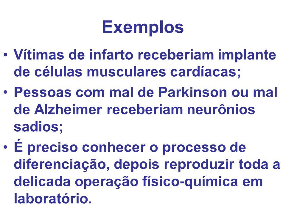 Exemplos Vítimas de infarto receberiam implante de células musculares cardíacas;