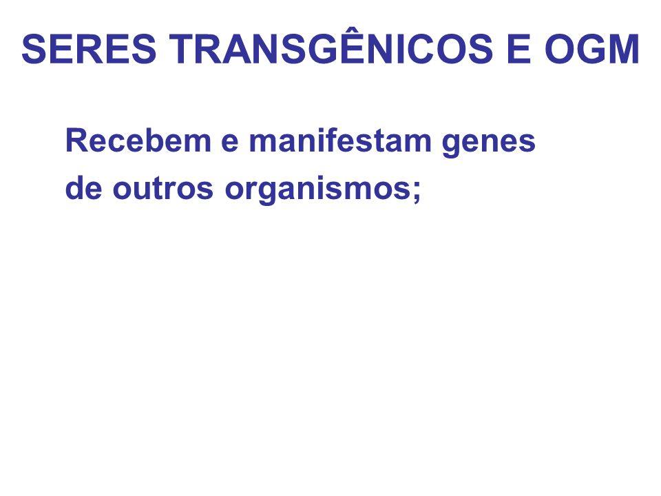 SERES TRANSGÊNICOS E OGM