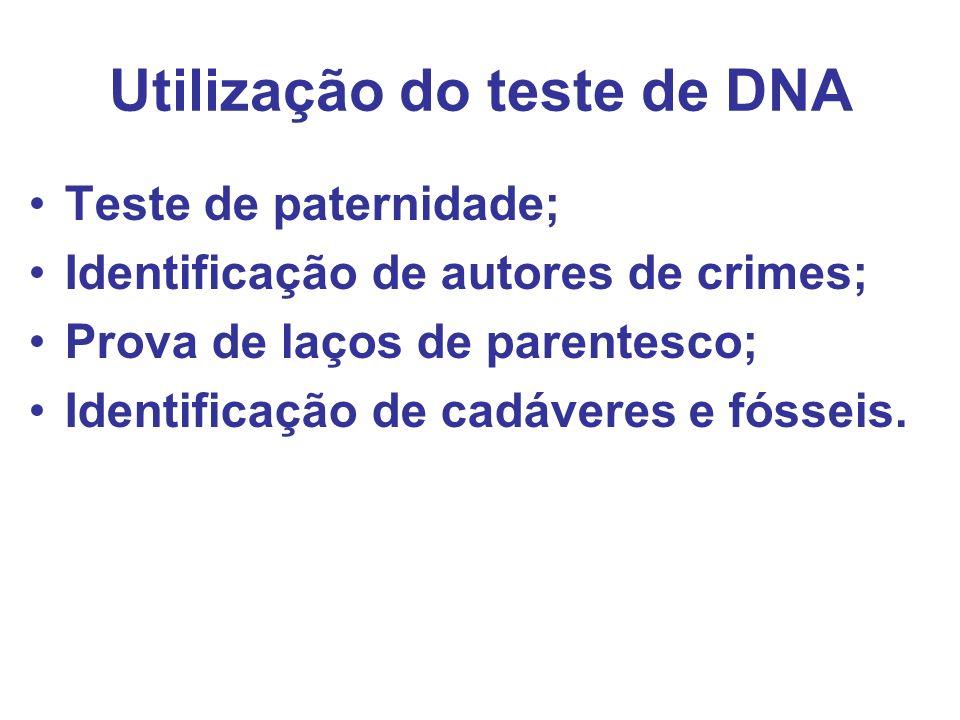 Utilização do teste de DNA