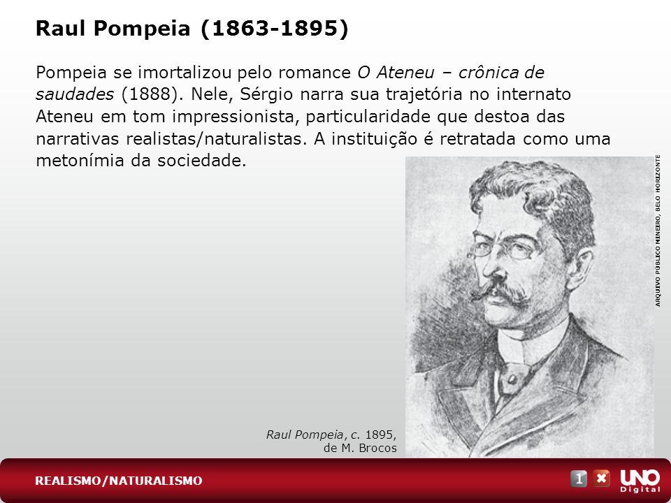 Lit-cad-1-top-6 - 3 prova Raul Pompeia (1863-1895)