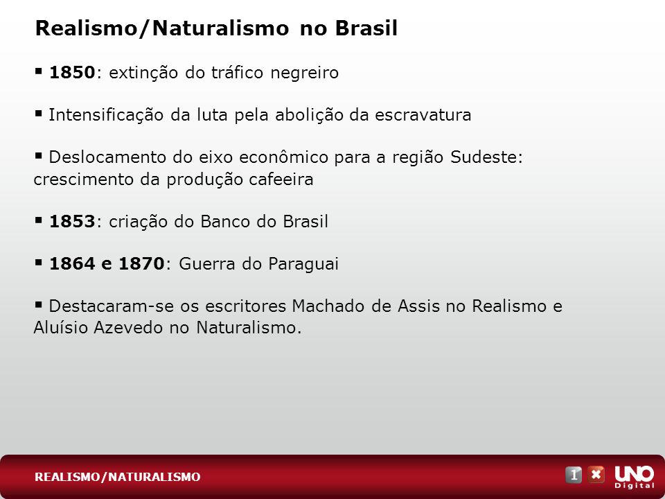 Realismo/Naturalismo no Brasil