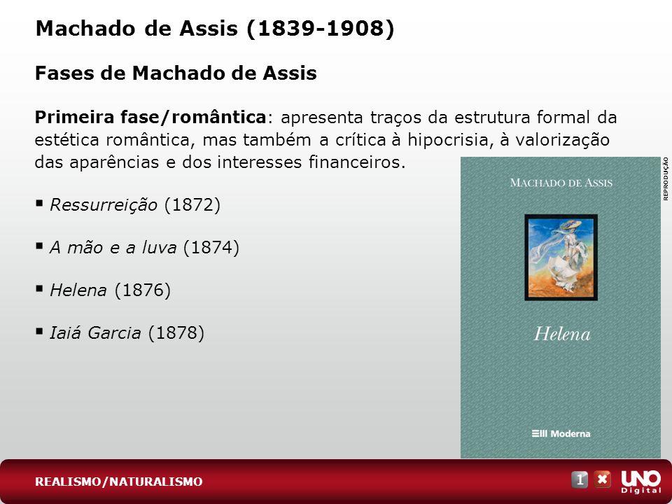 Machado de Assis (1839-1908) Fases de Machado de Assis