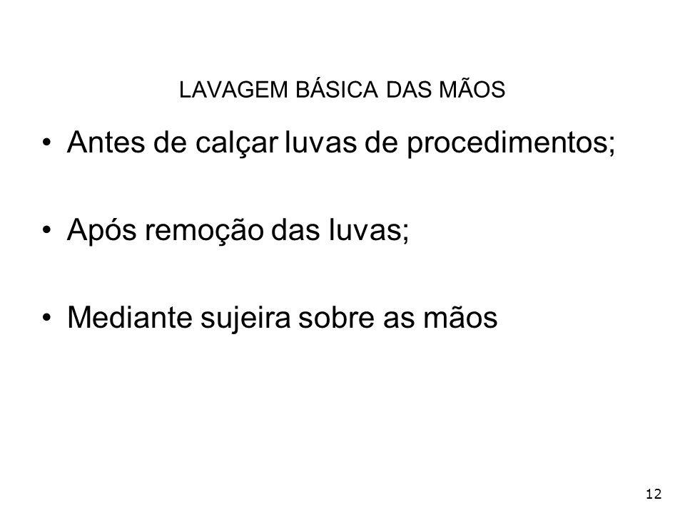 LAVAGEM BÁSICA DAS MÃOS