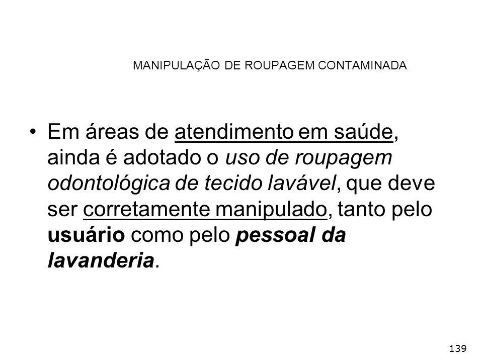 MANIPULAÇÃO DE ROUPAGEM CONTAMINADA