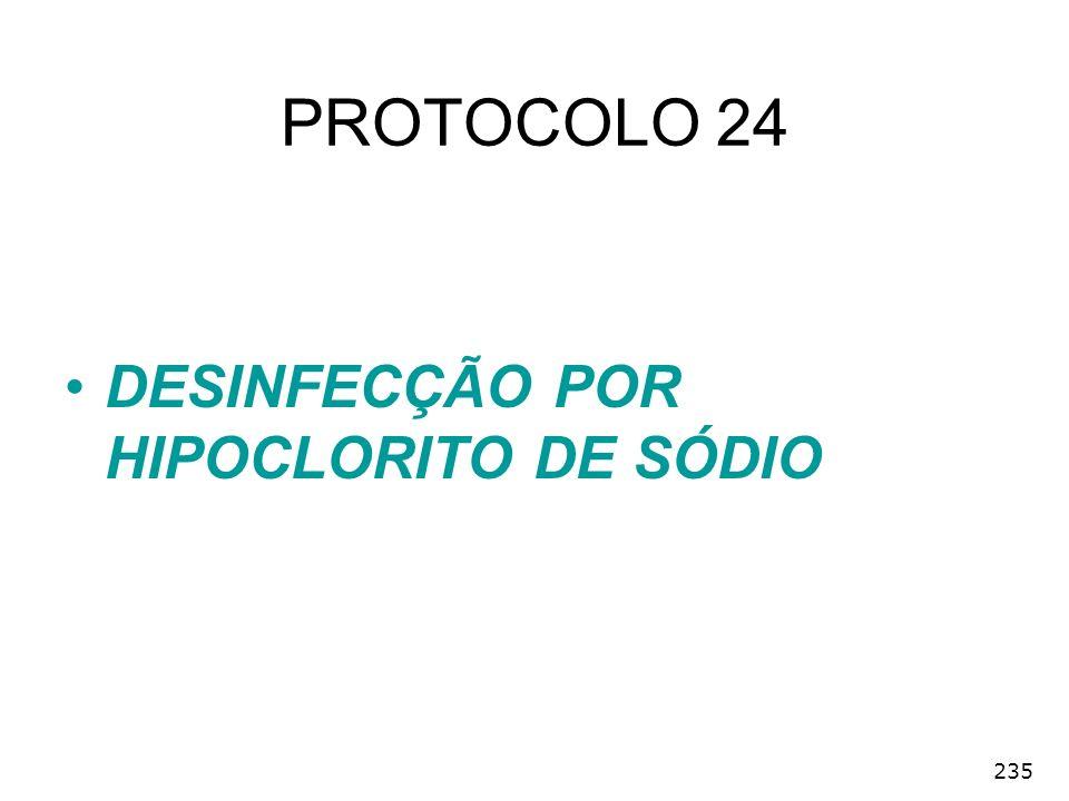 PROTOCOLO 24 DESINFECÇÃO POR HIPOCLORITO DE SÓDIO 235