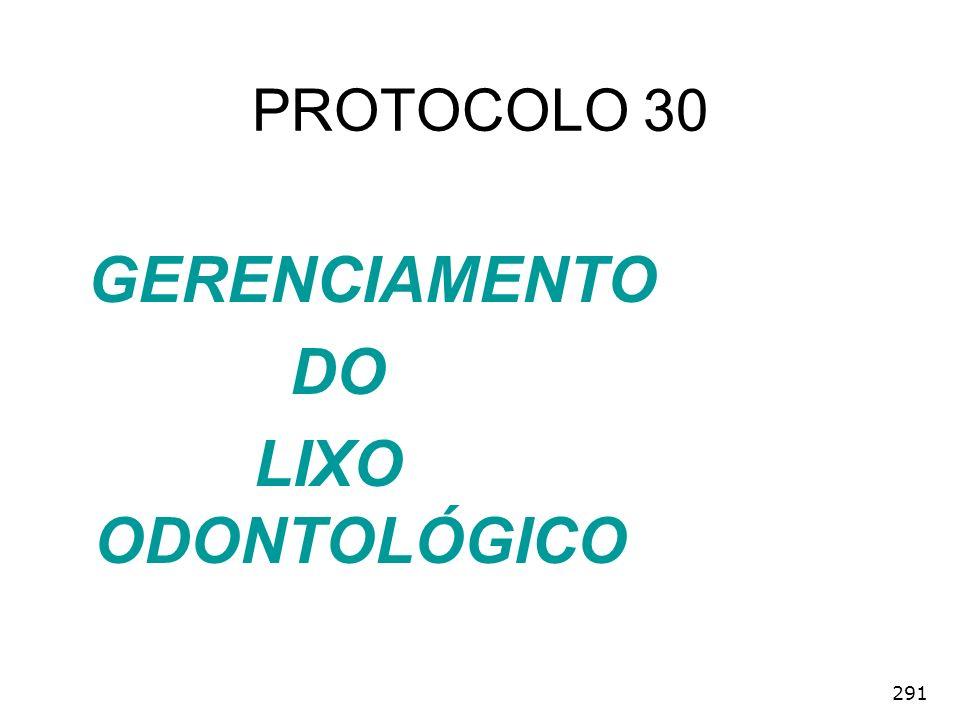 PROTOCOLO 30 GERENCIAMENTO DO LIXO ODONTOLÓGICO 291