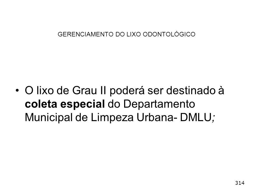 GERENCIAMENTO DO LIXO ODONTOLÓGICO