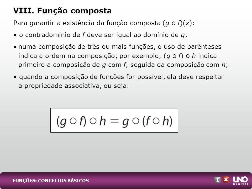 Mat-cad-1-top-1 – 3 Prova VIII. Função composta. Para garantir a existência da função composta (g О f)(x):