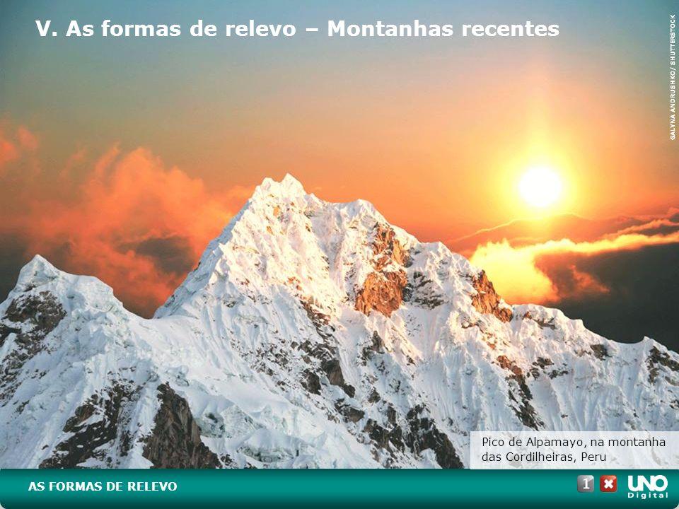 V. As formas de relevo – Montanhas recentes