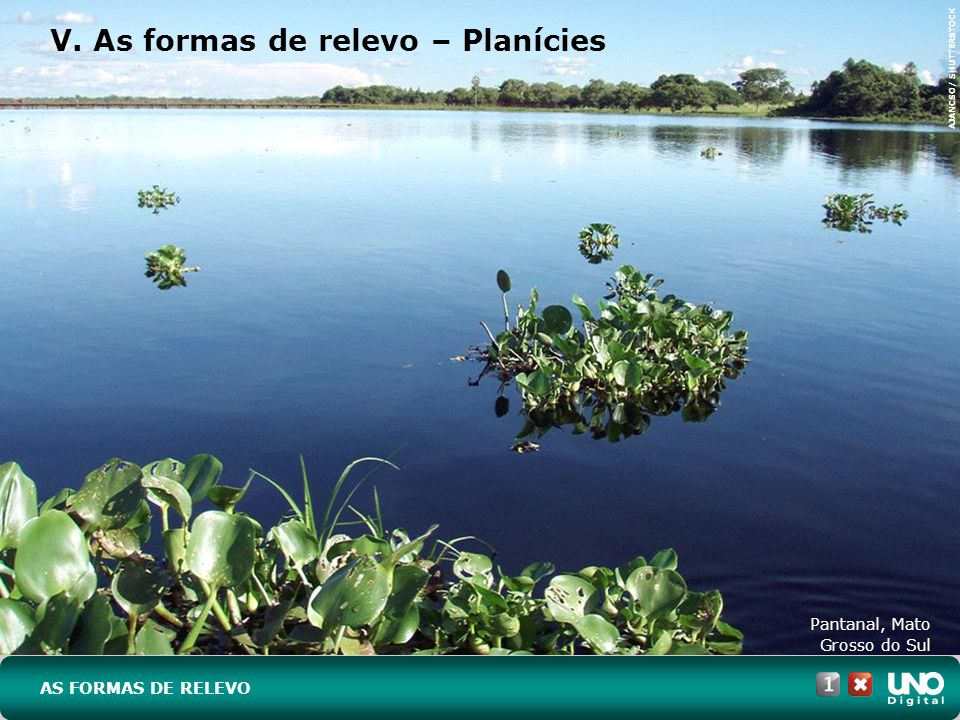 V. As formas de relevo – Planícies