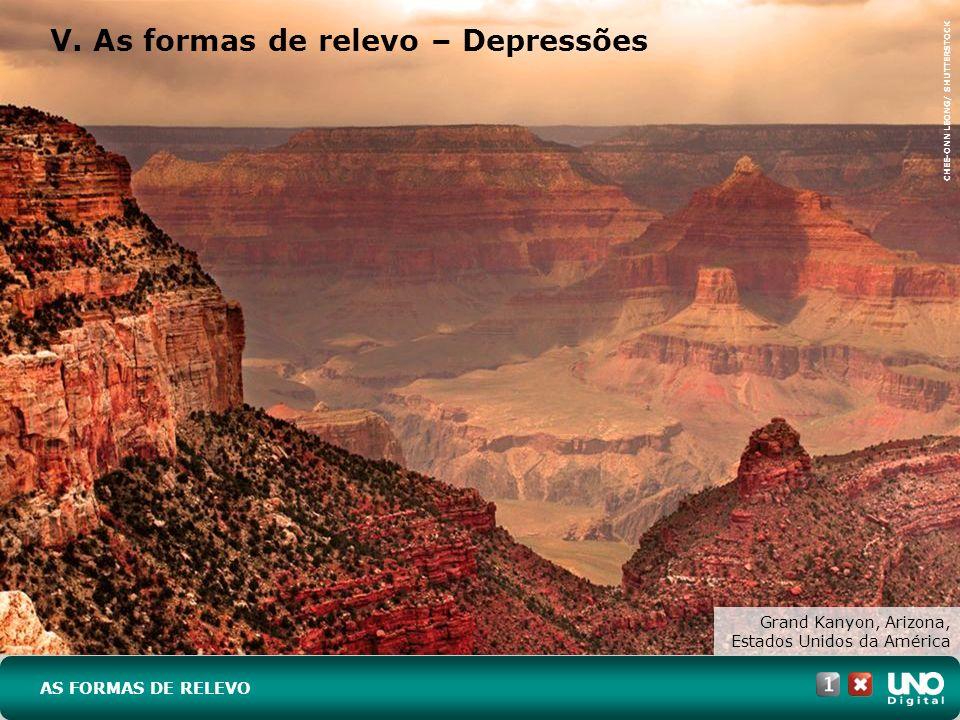 V. As formas de relevo – Depressões