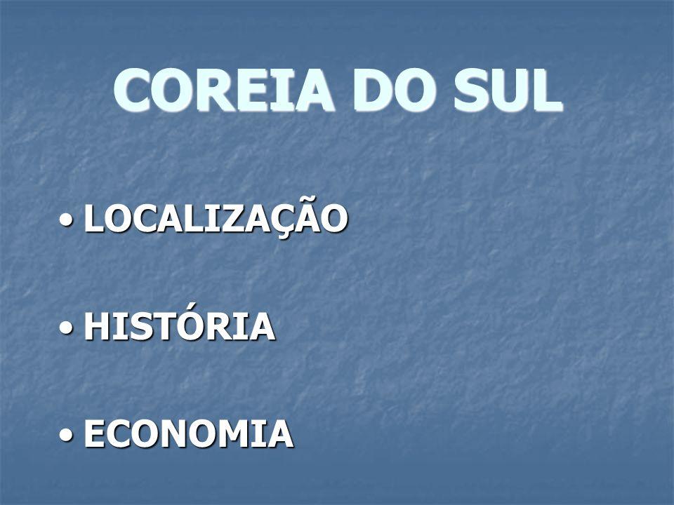 COREIA DO SUL LOCALIZAÇÃO HISTÓRIA ECONOMIA