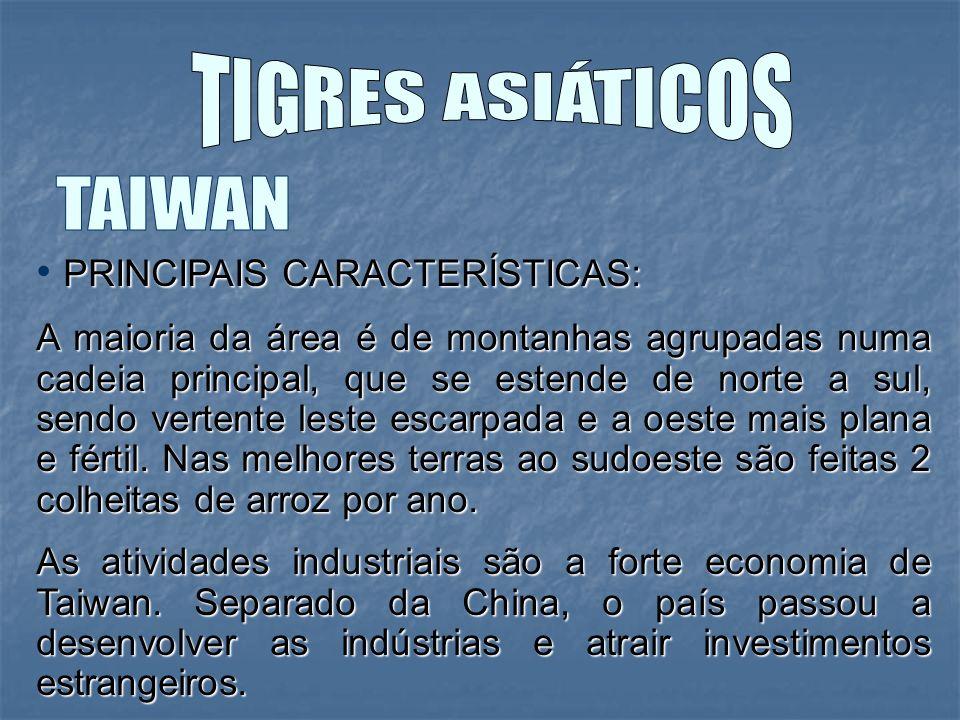 TIGRES ASIÁTICOS TAIWAN PRINCIPAIS CARACTERÍSTICAS: