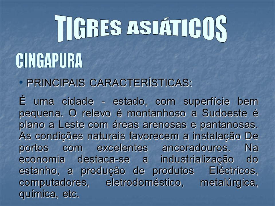TIGRES ASIÁTICOS CINGAPURA PRINCIPAIS CARACTERÍSTICAS: