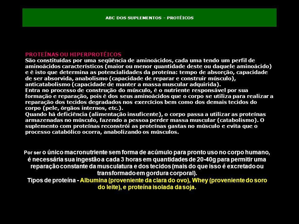 ABC DOS SUPLEMENTOS - PROTÉICOS