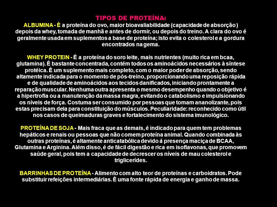TIPOS DE PROTEÍNA: