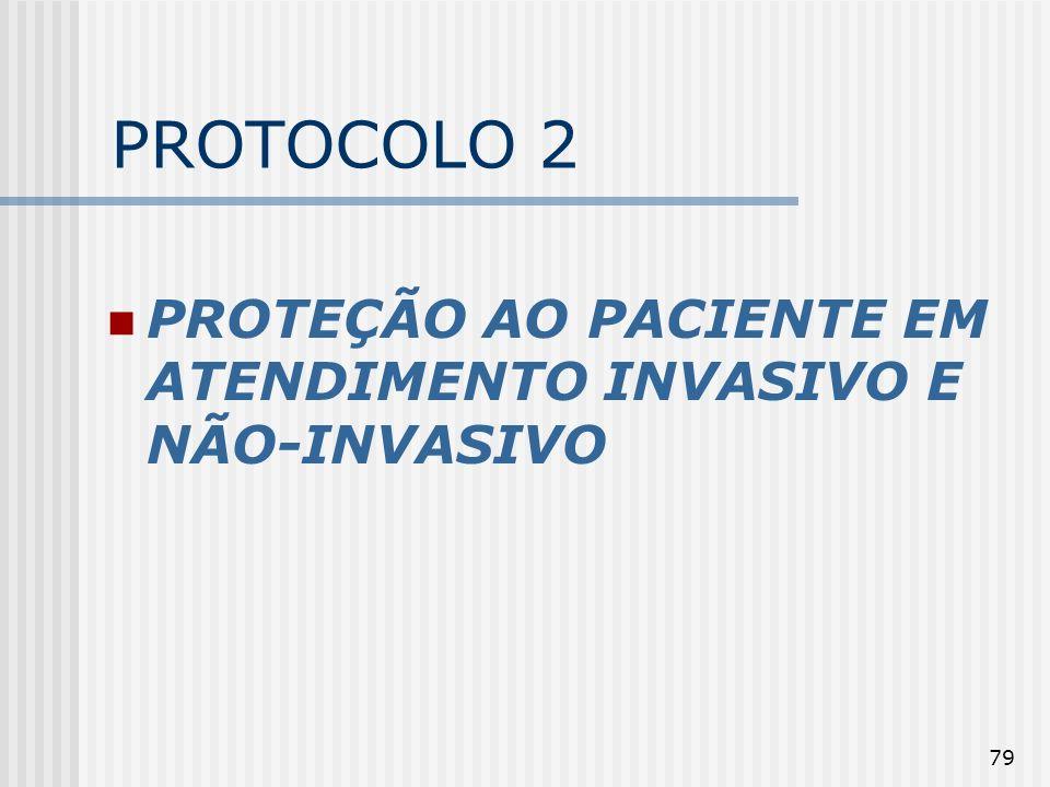 PROTOCOLO 2 PROTEÇÃO AO PACIENTE EM ATENDIMENTO INVASIVO E NÃO-INVASIVO