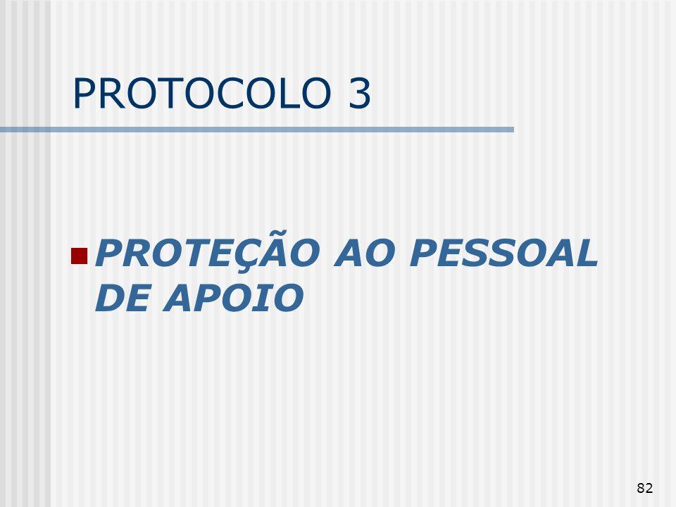 PROTOCOLO 3 PROTEÇÃO AO PESSOAL DE APOIO
