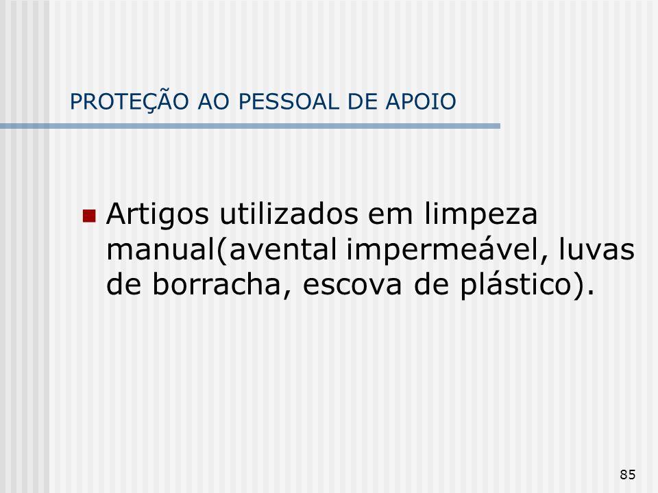 PROTEÇÃO AO PESSOAL DE APOIO