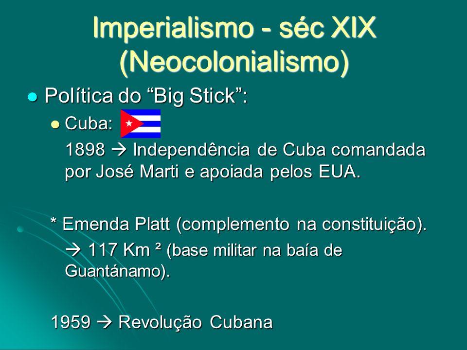 Imperialismo - séc XIX (Neocolonialismo)
