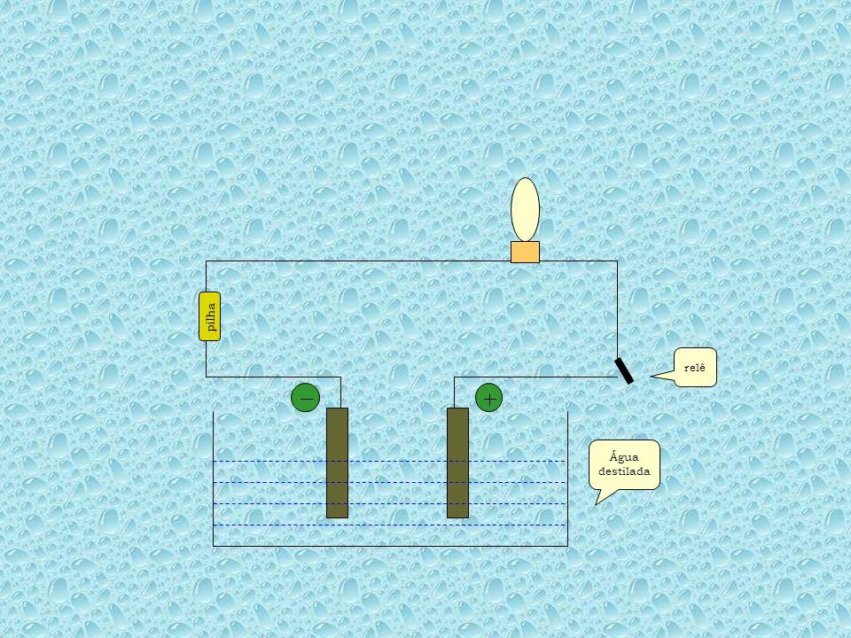 pilha relê Água destilada