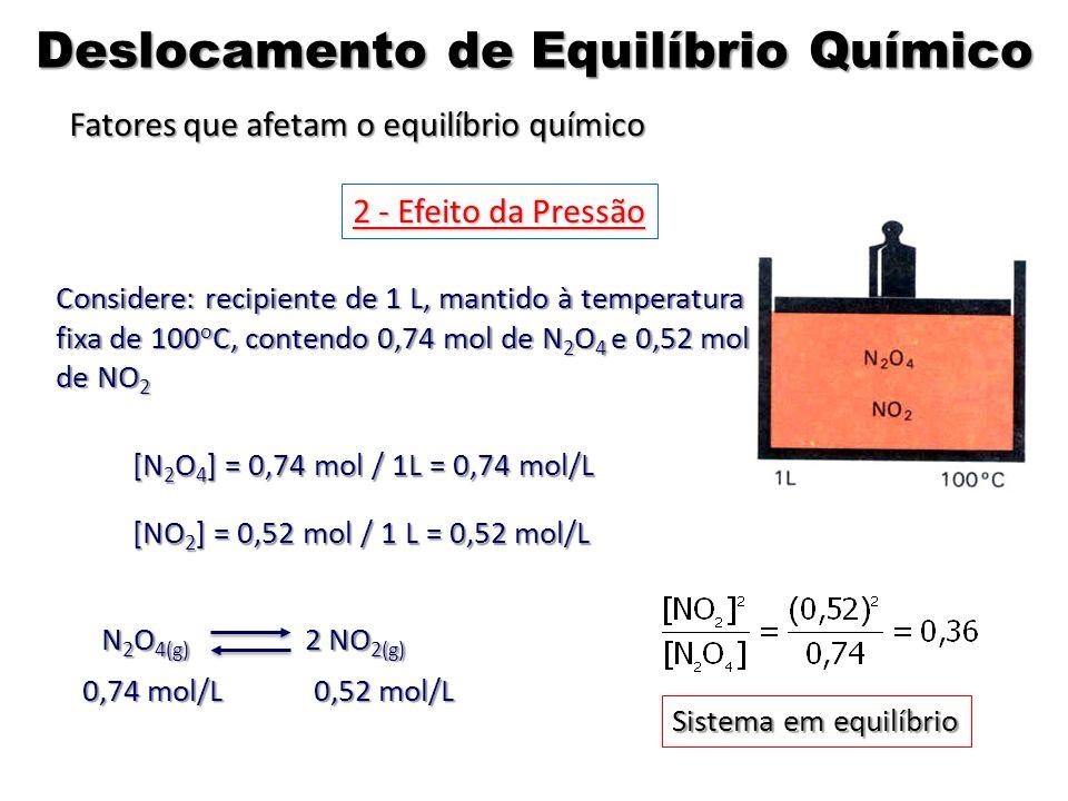 Deslocamento de Equilíbrio Químico