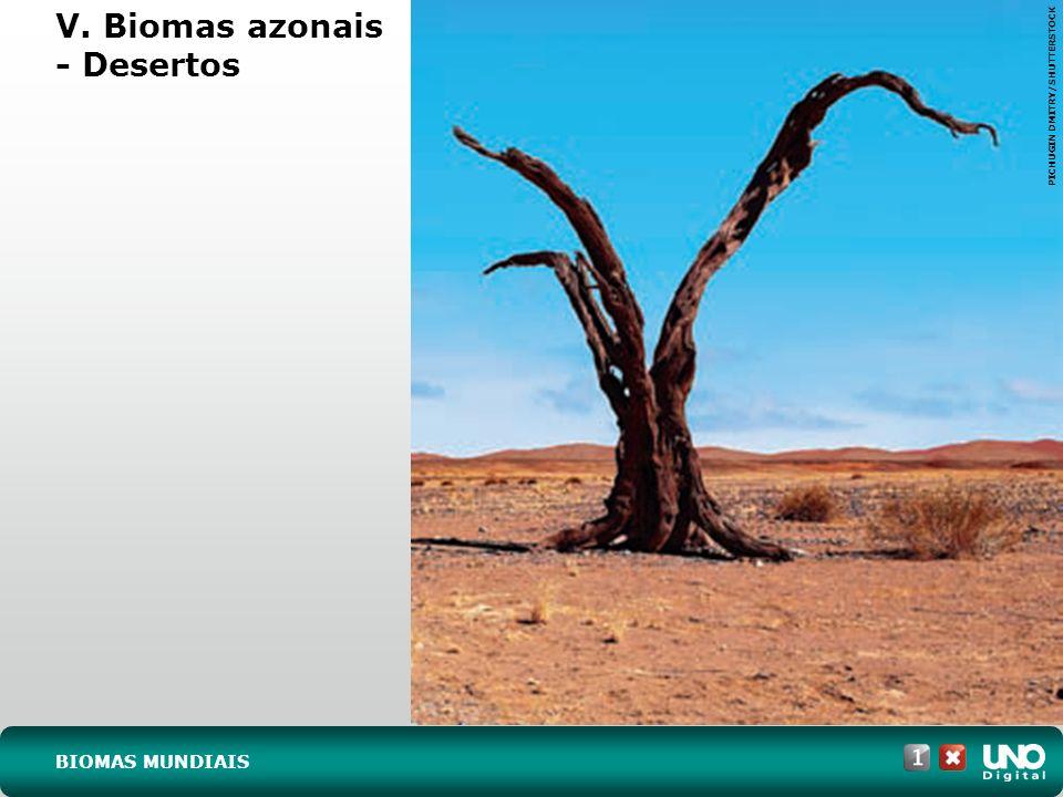 V. Biomas azonais - Desertos