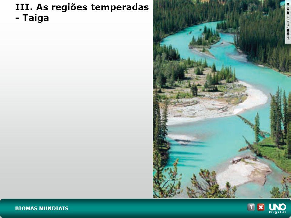 III. As regiões temperadas - Taiga