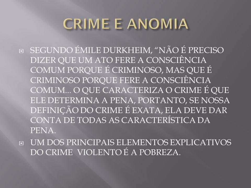 CRIME E ANOMIA