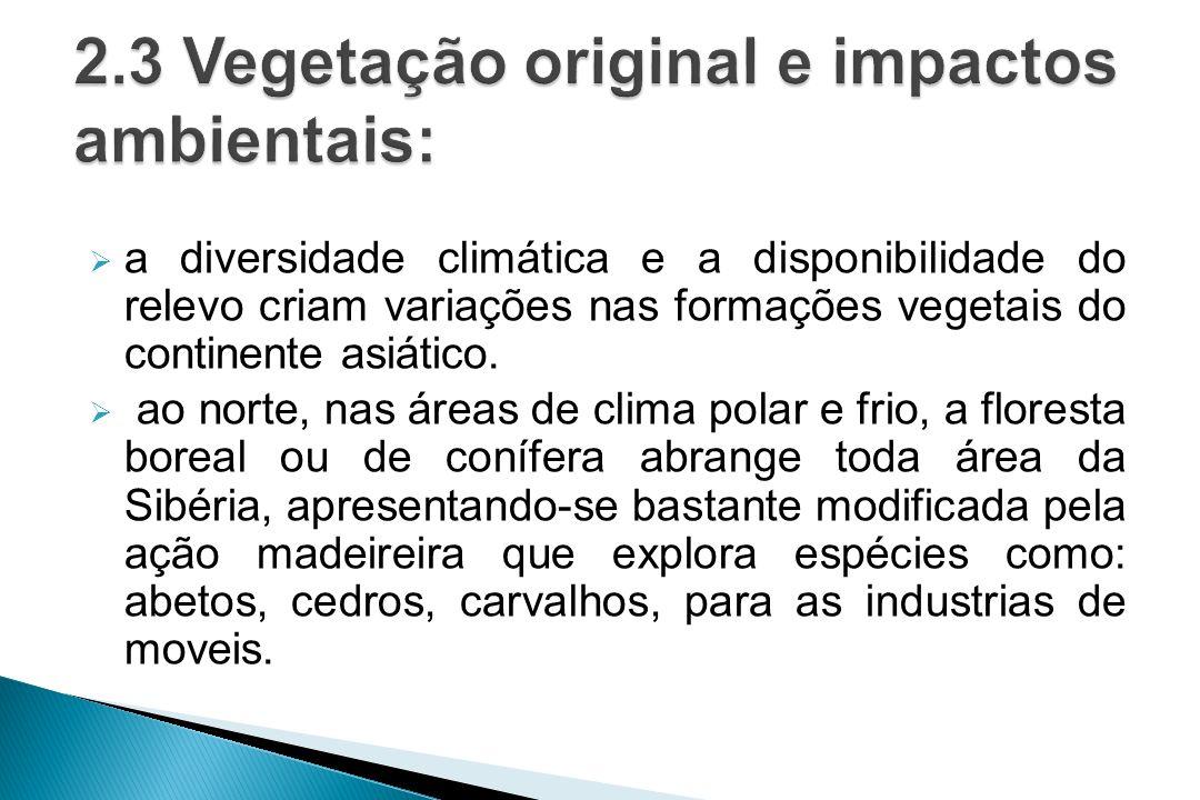2.3 Vegetação original e impactos ambientais: