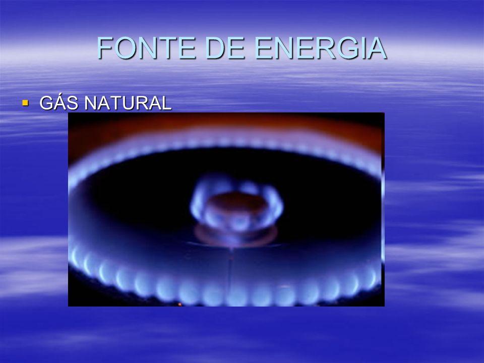 FONTE DE ENERGIA GÁS NATURAL