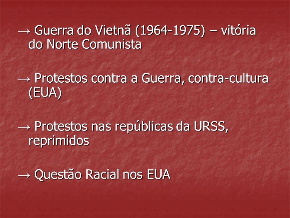 → Guerra do Vietnã (1964-1975) – vitória do Norte Comunista