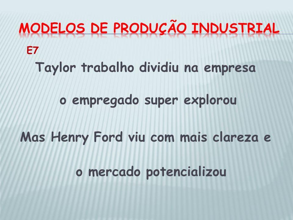 Modelos de produção industrial