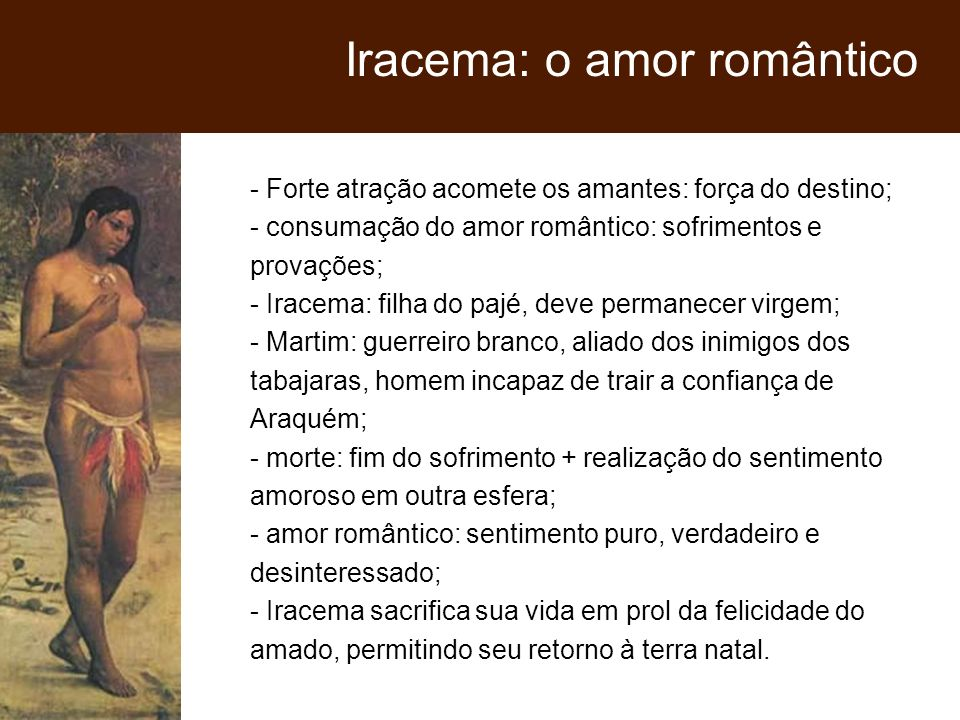 Iracema: o amor romântico