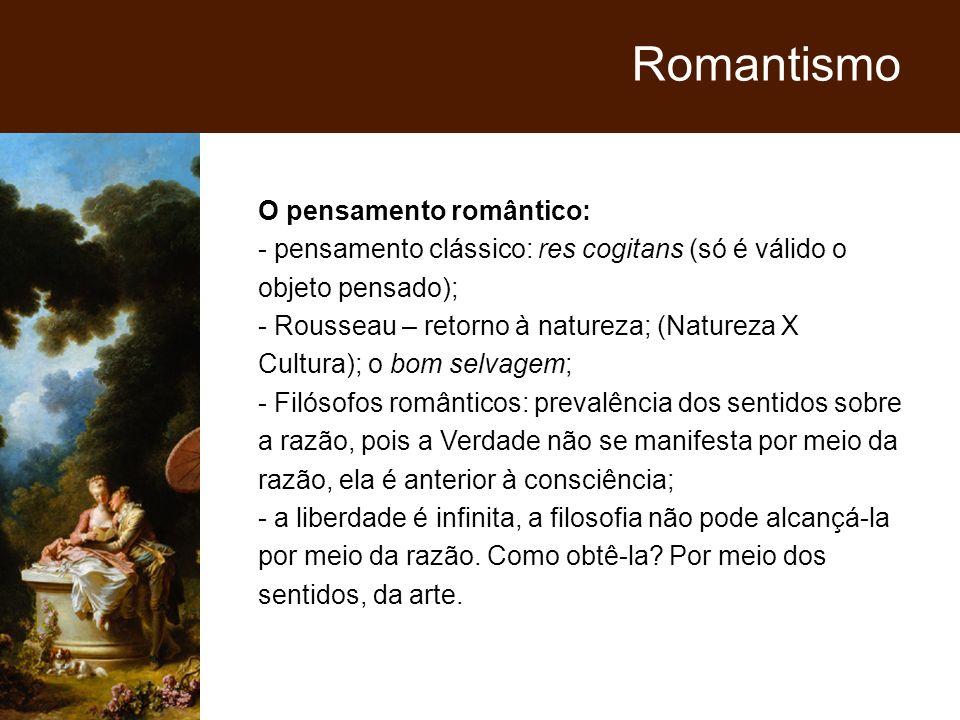 Romantismo O pensamento romântico: