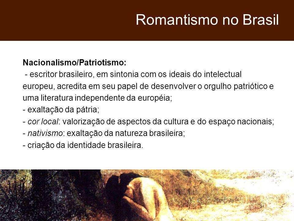 Romantismo no Brasil Nacionalismo/Patriotismo: