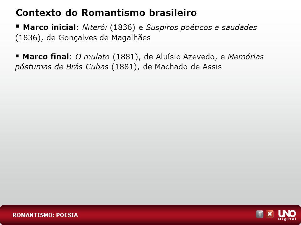 Contexto do Romantismo brasileiro