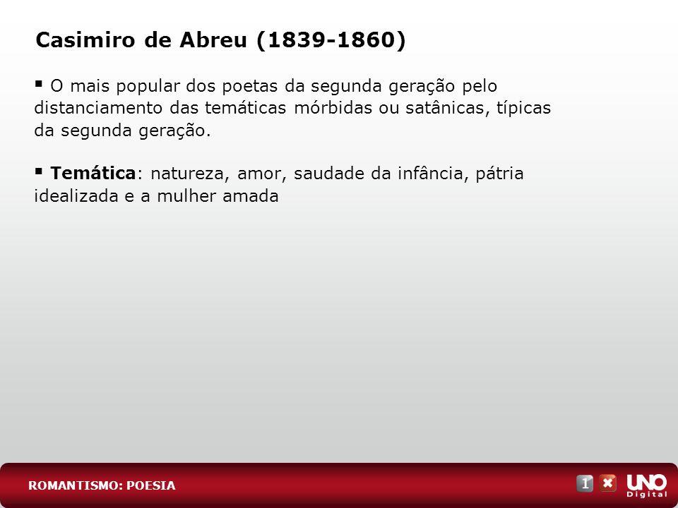 Casimiro de Abreu (1839-1860)