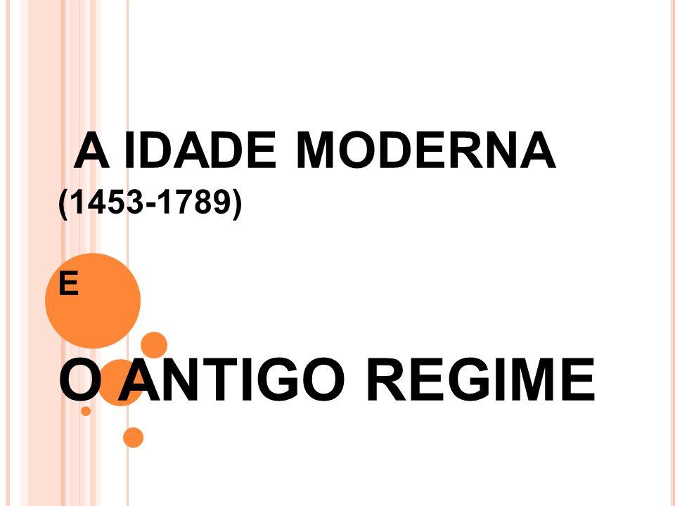 A IDADE MODERNA (1453-1789) E O ANTIGO REGIME